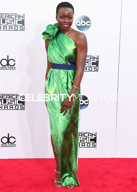 LOS ANGELES, CA, USA - NOVEMBER 23: Danai Gurira arrives at the 2014 American Music Awards held at Nokia Theatre L.A. Live on November 23, 2014 in Los Angeles, California, United States. (Photo by Xavier Collin/Celebrity Monitor)