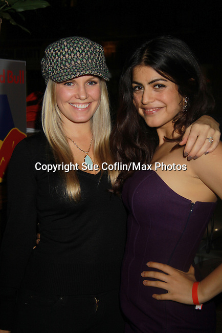 One Life To Live Terri Conn and Shenaz Treasury - Stars of Daytime and Prime Time Television and Broadway bartend to benefit Stockings with Care 2011 Holiday Drive  - Celebrity Bartending Event with Silent Auction & Raffle on November 16, 2011 at the Hudson Station Bar & Grill, New York City, New York. For more information - www.stockingswithcare.org.  (Photo by Sue Coflin/Max Photos)