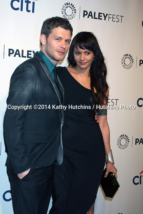 "LOS ANGELES - MAR 22:  Joseph Morgan, Persia White at the PaleyFEST 2014 - ""The Vampire Diaries"" & ""The Originals"" at Dolby Theater on March 22, 2014 in Los Angeles, CA"