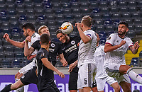 Kopfballchance Goncalo Paciencia (Eintracht Frankfurt) - 12.03.2020: Eintracht Frankfurt vs. FC Basel, UEFA Europa League, Achtelfinale, Commerzbank Arena<br /> DISCLAIMER: DFL regulations prohibit any use of photographs as image sequences and/or quasi-video.