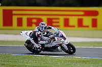 PHILLIP ISLAND, 27 FEBRUARY - James Toseland (GBR) riding the BMW S1000 RR (52) of the BMW Motorrad Italia SBK Team during race one of round one of the 2011 FIM Superbike World Championship at Phillip Island, Australia. (Photo Sydney Low / syd-low.com)