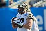 Patrick Osterhage (68) of the Wake Forest Demon Deacons prior to the game against the Texas A&M Aggies at Bank of America Stadium on December 29, 2017 in Charlotte, North Carolina.  The Demon Deacons defeated the Aggies 55-52.  (Brian Westerholt/Sports On Film)