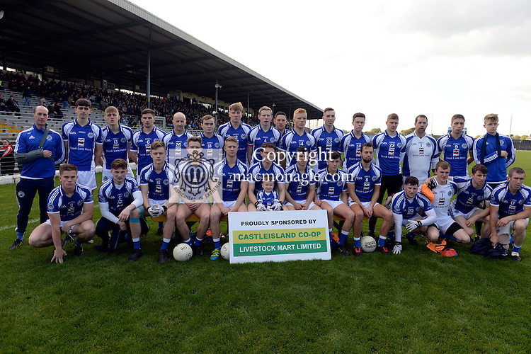 23-10-2016: The Templenoe team defeated by Kenmare in the Castleisland Co-Op Intermediate Football Final at Fitzgerald Stadium, Killarney on Sunday.<br /> Photo: Don MacMonagle