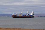 OCEAN CARGO SHIP BRINGS SUPLIES TO KUGLUKTUK, NUNAVUT, CANADA