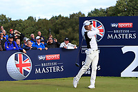 Jeunghun Wang (KOR) on the 2nd tee during Round 3 of the Sky Sports British Masters at Walton Heath Golf Club in Tadworth, Surrey, England on Saturday 13th Oct 2018.<br /> Picture:  Thos Caffrey | Golffile