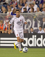 DC United midfielder Branko Boskovic (27) at midfield. The New England Revolution defeated DC United, 1-0, at Gillette Stadium on August 7, 2010.