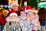 Wiktoria, Marcin, Anna and Anastazja Walczak, waiting for Santa to arrive in Killarney on Saturday evening last.
