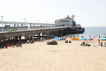 The pier and sandy beach at Bournemouth, Dorset, England, UK