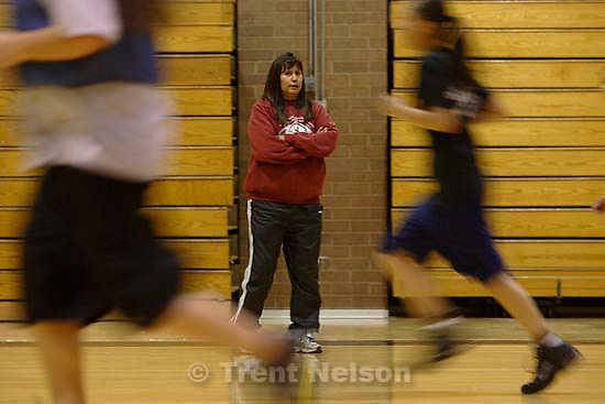 Pactice. Whitehorse high school girls basketball. 1.30.2006<br />