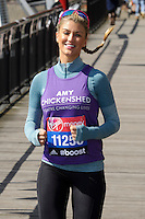 Amy Willerton at the photocall for celebs running the 2014 London Marathon, London. 09/04/2014 Picture by: Steve Vas / Featureflash