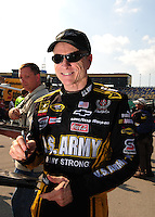 Sept. 26, 2008; Kansas City, KS, USA; Nascar Sprint Cup Series driver Mark Martin during qualifying for the Camping World RV 400 at Kansas Speedway. Mandatory Credit: Mark J. Rebilas-