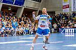 Zieker, Patrick (TVB Stuttgart #25) / TVB 1898 Stuttgart - HSG Nordhorn Lingen / HBL / LIQUI MOLY 1.Handball-BundesligaSCHARRena / Stuttgart Baden-Wuerttemberg / Deutschland <br /> <br /> Foto © PIX-Sportfotos *** Foto ist honorarpflichtig! *** Auf Anfrage in hoeherer Qualitaet/Aufloesung. Belegexemplar erbeten. Veroeffentlichung ausschliesslich fuer journalistisch-publizistische Zwecke. For editorial use only.