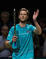 Rotterdam, The Netherlands, 16 Februari, 2018, ABNAMRO World Tennis Tournament, Ahoy, Tennis, Andreas Seppi (ITA) jubilates he is throuh to the semi final<br /> <br /> Photo: www.tennisimages.com