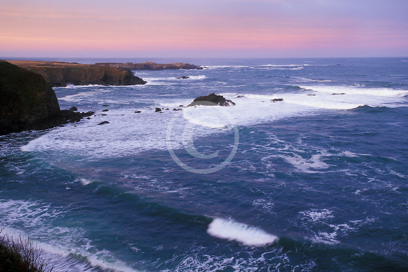 California, Mendocino , Mendocino Headlands State Park, Coastal bluffs