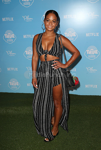 LOS ANGELES, CA - AUGUST 10: Christina Milian, at the Netflix Series Premiere Of True And The Rainbow Kingdom at the Pacific Theatres at The Grove in Los Angeles, California on August 10, 2017. Credit: Faye Sadou/MediaPunch