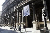 Exterior view of the building of the Egyptian Museum and the Galleria Sabauda (Sabauda Gallery) art collection in Turin.<br /> Veduta esterna dell'edificio che ospita il Museo Egizio e la Galleria Sabauda a Torino.<br /> UPDATE IMAGES PRESS/Riccardo De Luca