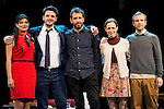 Maia Sur, Jaime Zatarain, the director Paco Montes, Lidia Navarro and Fernando Ramallo during the theater play of Un Dios Salvaje at Nuevo Teatro Apolo in Madrid. March 09, 2016. (ALTERPHOTOS/BorjaB.Hojas)