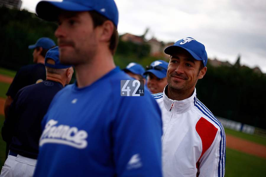 24 June 2011: Jerome Rousseau of Team France is seen after France 8-5 win over UCLA Alumni, at the 2011 Prague Baseball Week, in Prague, Czech Republic.