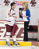 Paul Carey (BC - 22) - The Boston College Eagles defeated the University of Massachusetts-Amherst Minutemen 3-2 to take their Hockey East Quarterfinal matchup in two games on Saturday, March 10, 2012, at Kelley Rink in Conte Forum in Chestnut Hill, Massachusetts.