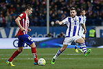 Atletico de Madrid´s Gabi and Real Sociedad´s Asier Illarramendi during 2015-16 La Liga match between Atletico de Madrid and Real Sociedad at Vicente Calderon stadium in Madrid, Spain. March 01, 2016. (ALTERPHOTOS/Victor Blanco)