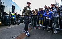 Leeds United's Pablo Hernandez steps off the coach at Deepdale<br /> <br /> Photographer Alex Dodd/CameraSport<br /> <br /> The EFL Sky Bet Championship - Preston North End v Leeds United -Tuesday 9th April 2019 - Deepdale Stadium - Preston<br /> <br /> World Copyright &copy; 2019 CameraSport. All rights reserved. 43 Linden Ave. Countesthorpe. Leicester. England. LE8 5PG - Tel: +44 (0) 116 277 4147 - admin@camerasport.com - www.camerasport.com