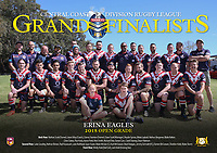 The Erina Eagles pose for their team photo before the 2018 Open Grade Central Coast Rugby League Division Grand Final at Woy Woy Oval on 16 September, 2018 in Woy Woy, NSW Australia. Photo: Paul Barkley | LookPro Photography