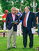 Duncan Patterson being interviewed by Rich Glazier before The Longines Fegentri Gentlemen Championship at Delaware Park on 7/24/17