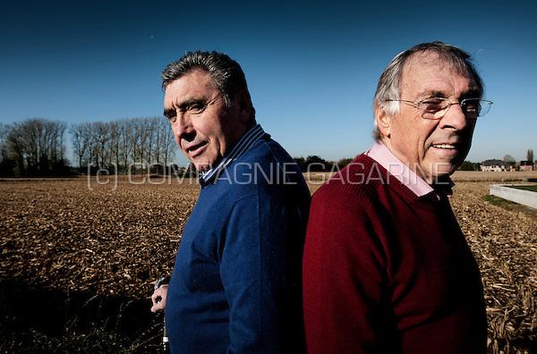 Belgian cyclists Eddy Merckx and Patrick Sercu (Belgium, 06/11/2012)