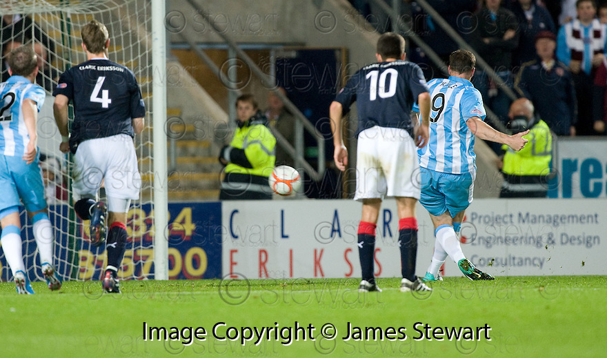21/09/2010   Copyright  Pic : James Stewart.sct_jsp017_falkirk_v_hearts  .:: KEVIN KYLE SCORES FROM THE PENALTY SPOT :: .James Stewart Photography 19 Carronlea Drive, Falkirk. FK2 8DN      Vat Reg No. 607 6932 25.Telephone      : +44 (0)1324 570291 .Mobile              : +44 (0)7721 416997.E-mail  :  jim@jspa.co.uk.If you require further information then contact Jim Stewart on any of the numbers above.........