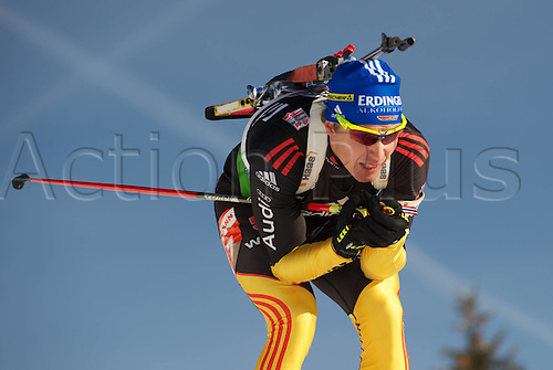 09.12.2011, Hochfilzen, Austria. The IBU Biathlon men's 10km Sprint Birnbacher Andreas ger Biathlon World Cup