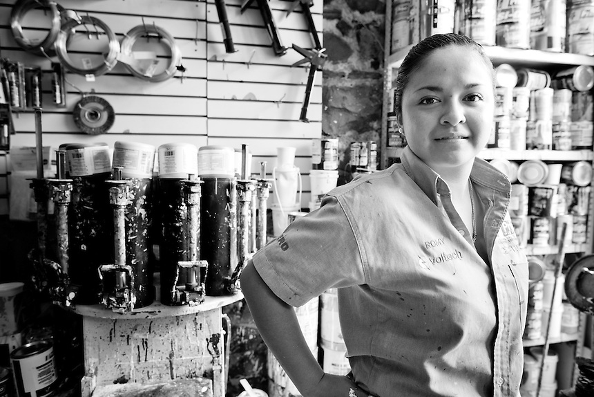Romina Alejandra Rojas Zamora. Hardware store owners in Ajijic, Jalisco,  Mexico.