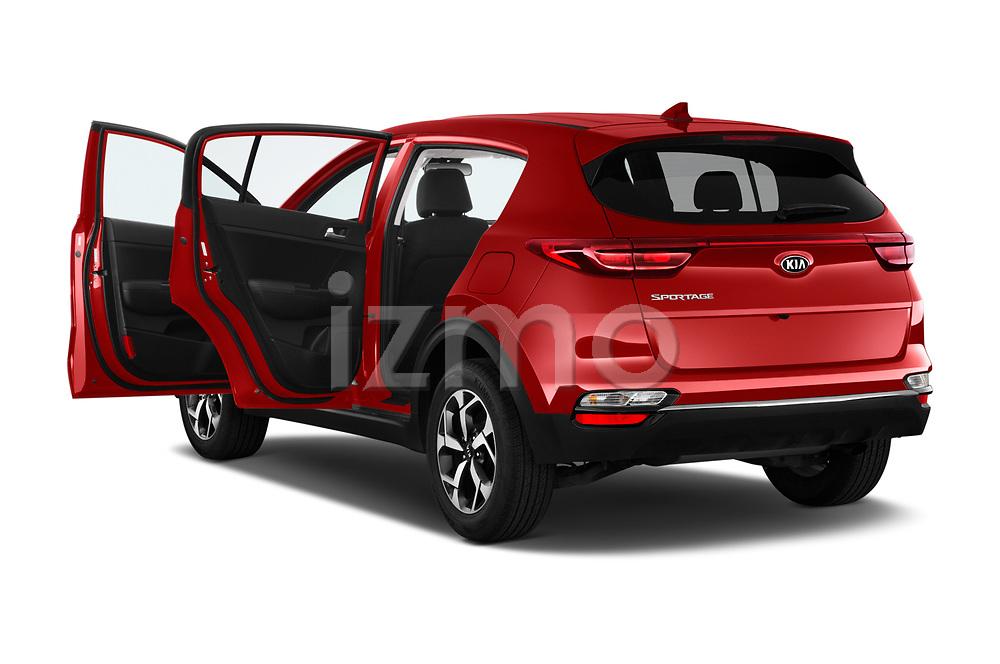 Car images close up view of a 2020 KIA Sportage LX 5 Door SUV doors