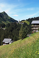 Austria, Vorarlberg, Damuels: hiking and skiing region at Bregenzer Wald
