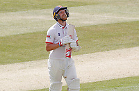 Jamie Porter of Essex looks crestfallen having been caught out during Essex CCC vs Kent CCC, Bob Willis Trophy Cricket at The Cloudfm County Ground on 4th August 2020