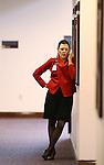 Lobbyist Mary Pierczynski works at the Legislative Building in Carson City, Nev., on Thursday, Feb. 12, 2015. <br /> Photo by Cathleen Allison