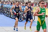 Dorian Coninx of France during the 2017 Madrid ITU Triathlon World Cup in Madrid, May 28, 2017. Spain.. (ALTERPHOTOS/Rodrigo Jimenez) /NortePhoto.com