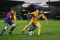 Craig Moore shields the ball in the St Mirren v Motherwell Clydesdale Bank Scottish Premier League U20 match played at St Mirren Park, Paisley on 10.9.12..
