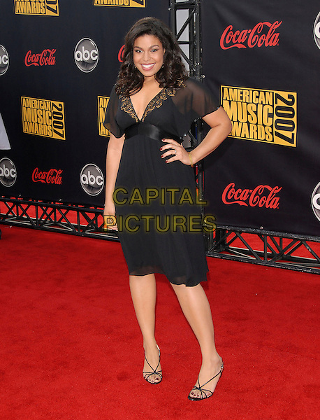 JORDIN SPARKS.At The 35th Annual American Music Awards held at The Nokia Theatre in Los Angeles, California, USA, .November 18, 2006..full length black dress hand on hip.CAP/DVS.©Debbie VanStory/Capital Pictures