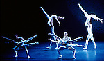 English National Ballet performing Voluntaries choreographed by Glen Tetley. Artists of the company