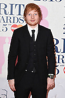 Ed Sheeran arrives for the BRIT Awards 2015 at the O2 Arena, London. 25/02/2015 Picture by: Steve Vas / Featureflash