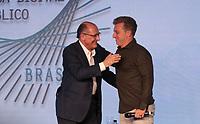 SAO PAULO, 07.08.2018 - ELEI&Ccedil;&Otilde;ES 2018 - O candidato Geraldo Alckmin do PSDB e Luciano Hulk participa da Govtech 2018 na tarde desta ter&ccedil;a-feira (07) no hotel Tivoli Mofarrej na zona sul de S&atilde;o Paulo.<br /> <br /> (Foto: Fabricio Bomjardim / Brazil Photo Press)