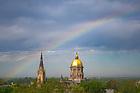 May 30, 2019; Rainbow over campus (Photo by Matt Cashore/University of Notre Dame)