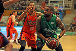 League ACB-ENDESA 2017/2018. Game: 30.<br /> Divina Seguros Joventut vs Valencia Baket Club: 77-75.<br /> Erick Green vs Patrick Richard.