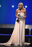 SANTA MONICA - JANUARY 13: Lady Gaga accepts the award for Best Song on the 24th Annual Critics' Choice Awards at the Barker Hangar on January 13, 2019, in Santa Monica, California. (Photo by Frank Micelotta/PictureGroup)