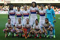 28th March 2018, Mini Estad, Barcelona, Spain; Womens Champions League football, quarter final, 2nd leg, Barcelona Women versus Lyon Women; Lyon team line up