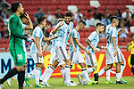 Argentina Squad celebrating the opening goal of Argentina during the International Test match between Argentina and Singapore at National Stadium on June 13, 2017 in Singapore. Photo by Marcio Rodrigo Machado / Power Sport Images