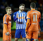 09.02.2019: Kilmarnock v Rangers : Kirk Broadfoot with old pals Steven Davis and Kyle Lafferty