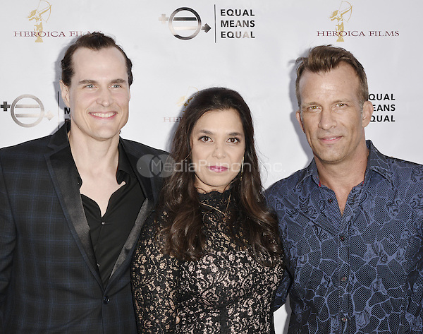 """BEVERLY HILLS, CA - AUGUST 26: Kamala Lopez and Thomas Jane attend the """"Equal Means Equal"""" Special Screening at the Music Hall on August 20, 2016 in Beverly Hills, CA. Koi Sojer, Snap'N U Photos / MediaPunch"""