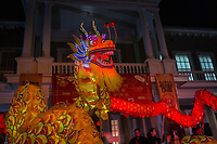 "MEXICALI,  MEXICO - February 13. A group of chinese traditional martial arts and dance perform the ""Dragon Dance"" on the Chinese New Year Bicultural Celebration in  The relations between Mexico and the People's Republic of China begin at the beginning of the decade from 1910 until today, making Mexicali one of the cities with the largest Chinese population in the country. Establishing strong commercial and cultural ties with Mexico.<br /> (Photo by Luis Boza/VIEWpress)"