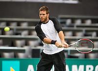 10-02-13, Tennis, Rotterdam, qualification ABNAMROWTT, Del Potro practising
